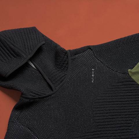 byborre hoodie hooded sweater aw18 a4 black olive detail