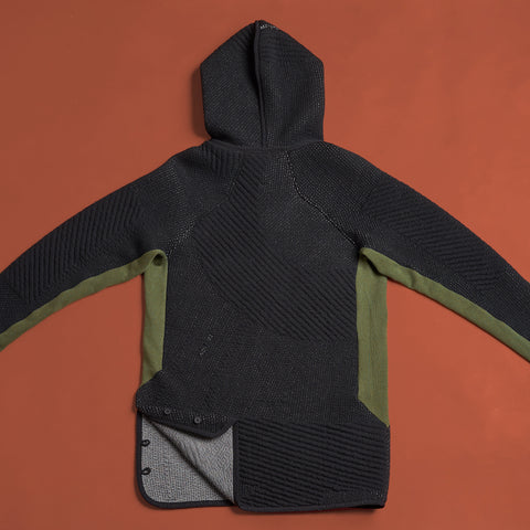 byborre hoodie hooded sweater aw18 a4 black olive back