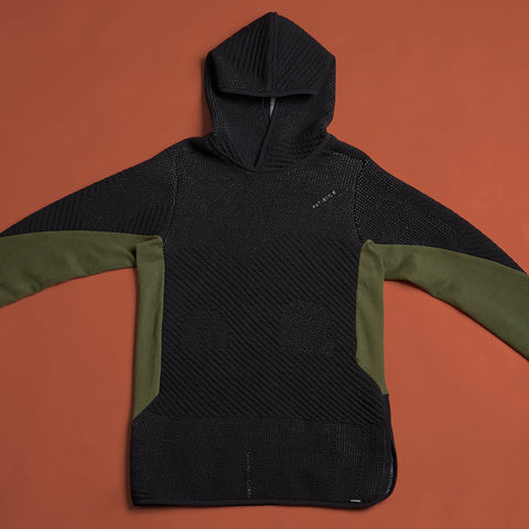 byborre hoodie hooded sweater aw18 a4 black olive front