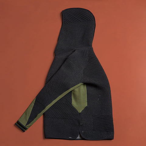 byborre hoodie hooded sweater aw18 a4 black olive side