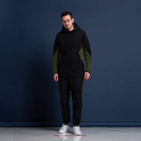 byborre hoodie hooded sweater aw18 a4 black blue on body