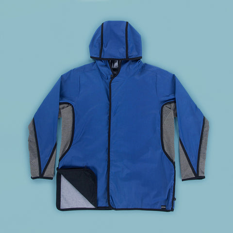 BYBORRE hooded jacket g5 ss19 the hybrid edition black white blue front