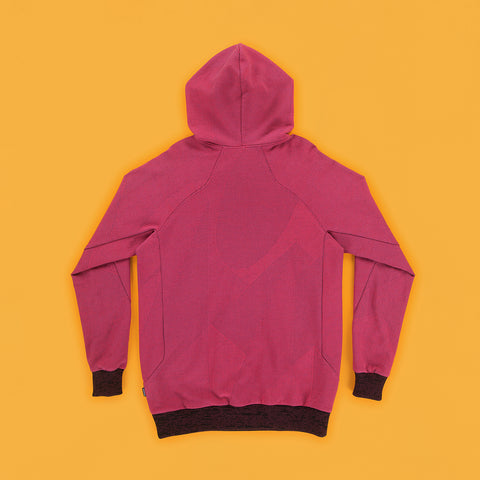 BYBORRE hoodie a1 light weight fuchsia multi multicolor ss19 the hybrid edition back