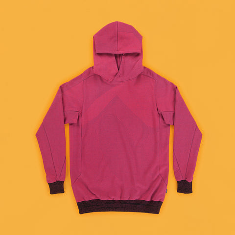BYBORRE hoodie a1 light weight fuchsia multi multicolor ss19 the hybrid edition front