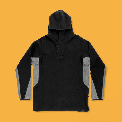 BYBORRE hoodie hooded sweater a6 ss19 the hybrid edition experimental black white front