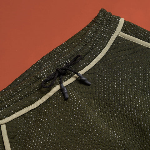 byborre long shorts b4 aw18 olive detail