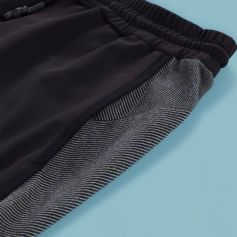 BYBORRE long shorts HL3 ss19 the hybrid edition black white 4-way stretch detail