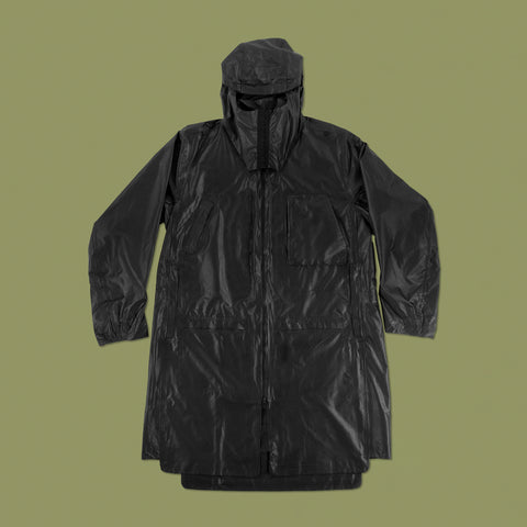 BYBORRE SS19 The Hybrid Edition GORE TEX gore-tex overparka rainshell black front