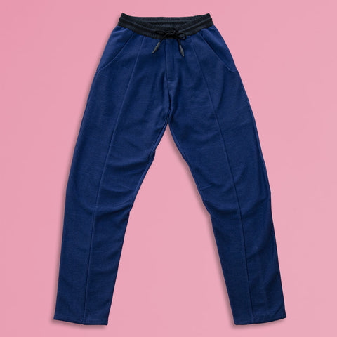 byborre pants d1 aw18 blue front
