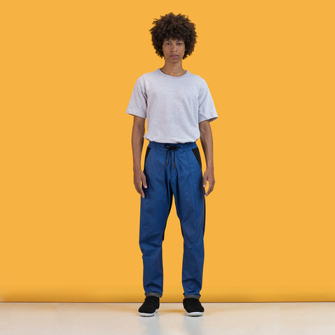 BYBORRE pants d5 ss19 the hybrid edition black blue on body on-body
