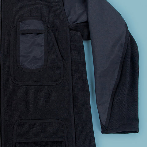 BYBORRE parka hp2 ss19 the hybrid edition gore-tex black detail