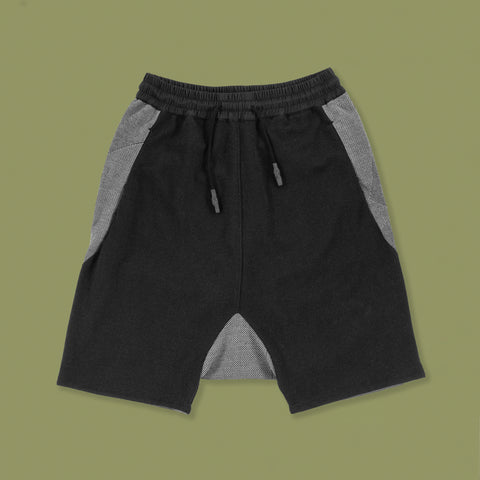 BYBORRE shorts short b1 ss19 the hybrid edition black front
