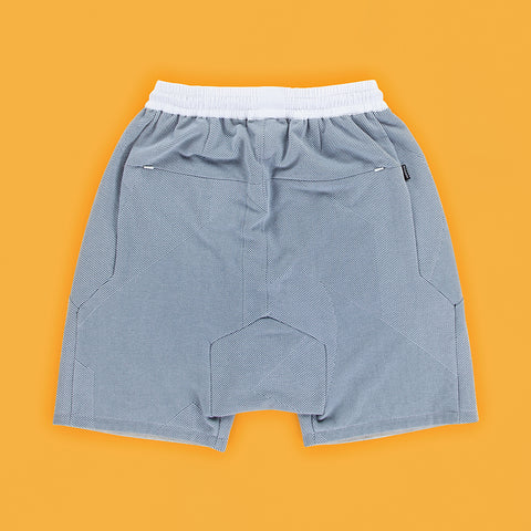 BYBORRE shorts short ss19 the hybrid edition dusty blue white back