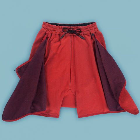BYBORRE skort b6 ss19 the hybrid edition red purple front open
