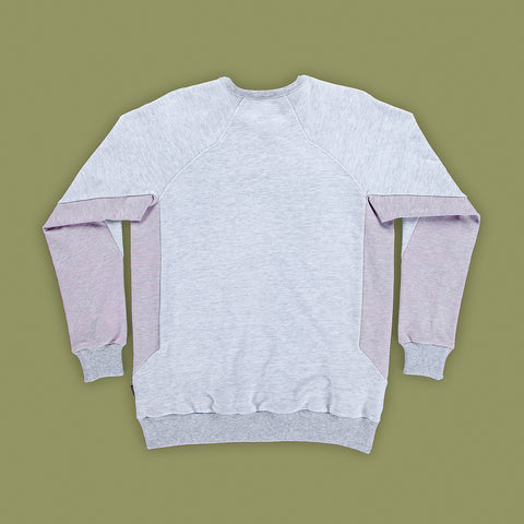BYBORRE sweater c1 ss19 the hybrid edition heather grey heather pink back