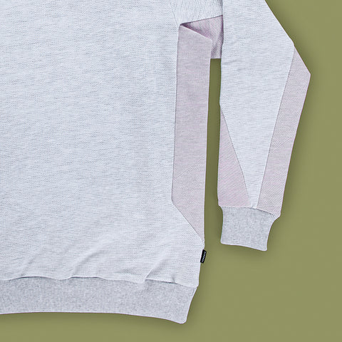 BYBORRE sweater c1 ss19 the hybrid edition heather grey heather pink detail