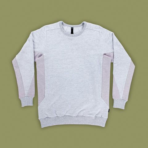 BYBORRE sweater c1 ss19 the hybrid edition heather grey heather pink front