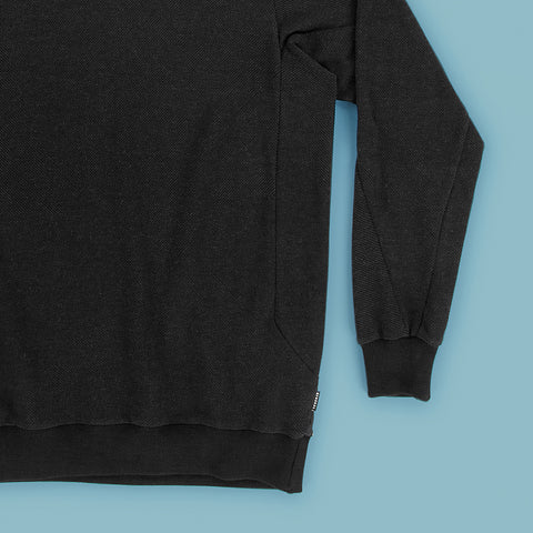 BYBORRE sweater c1 ss19 the hybrid edition black detail