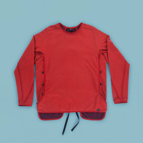 BYBORRE sweater c6 experimental ss19 the hybrid edition red purple front