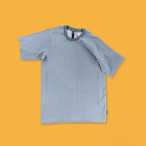 BYBORRE t-shirt shirt e1 ss19 the hybrid edition dusty blue white front