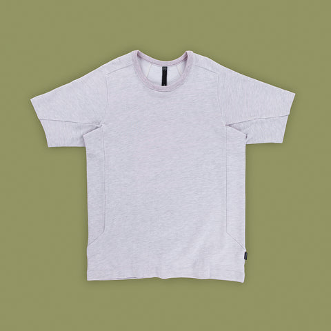 BYBORRE t-shirt shirt tshirt ss19 the hybrid edition heather grey front