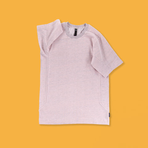 BYBORRE t-shirt e1 SS19 the hybrid edition heather pink front