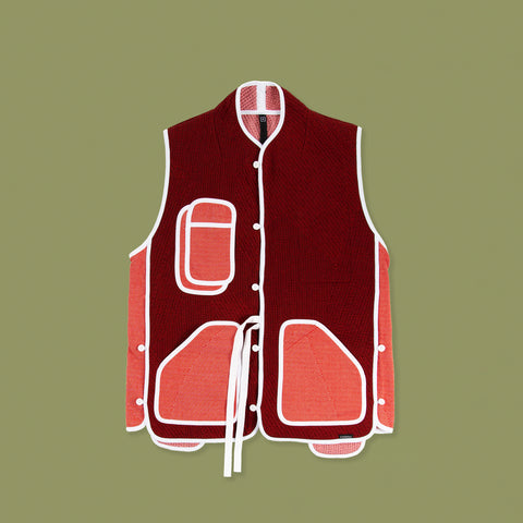 BYBORRE vest i3 ss19 the hybrid edition red white front