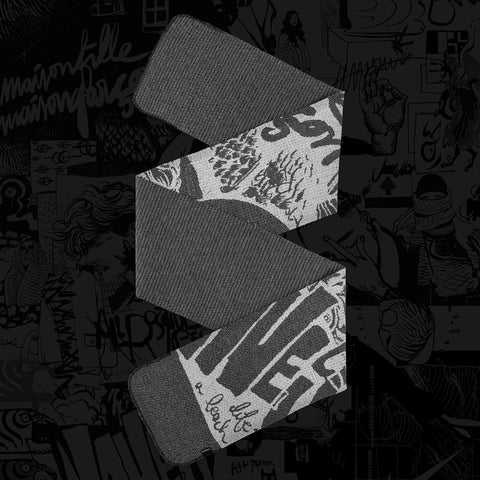 Yué Wu x BYBORRE Yue scarf collab collaboration grey white graphic