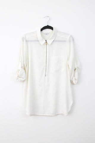ZIP PLACKET SHIRT