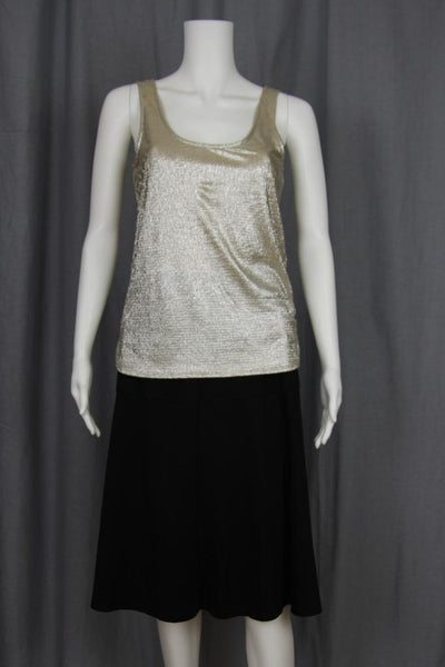 SHIMMER GOLD TANK TOP