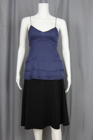 SWISS DOT TANK WITH RUFFLE HEM