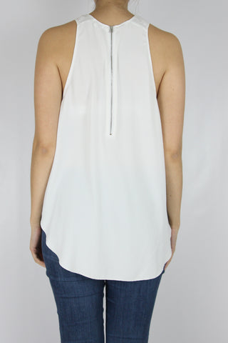 HI-LOW ROUND TANK WITH ZIPPERED BACK