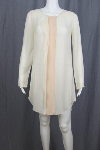SILK CHIFFON SHIRT DRESS