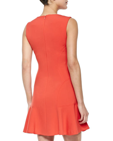 SLEEVELESS DROP WAIST FLARE DRESS