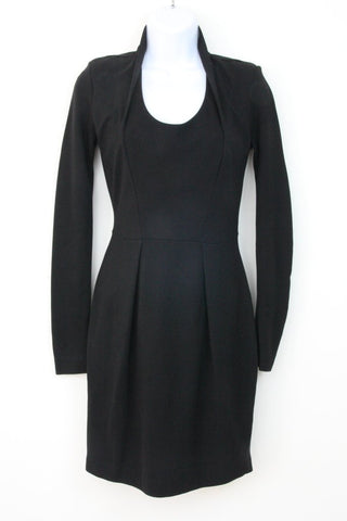 LONG SLEEVE FITTED KNIT DRESS