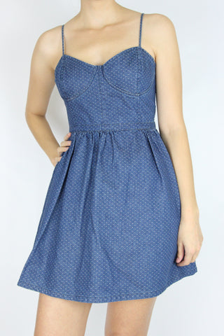 DENIM BUSTIER DRESS