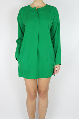 LOOSE-FIT SHIFT MINI-DRESS