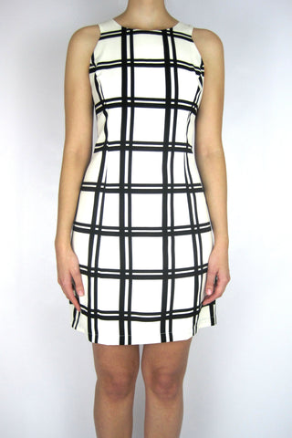 PLAID RACERBACK DRESS