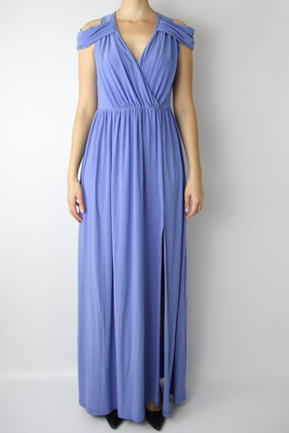 JERSEY MAXI DRESS W/ THIGH SLIT