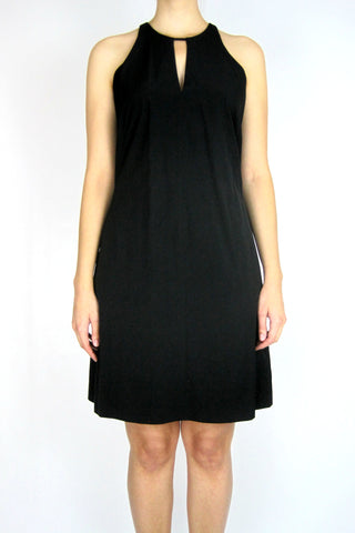 RACER TANK  DRESS WITH KEYHOLE NECK
