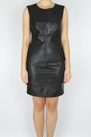 FAUX LEATHER SHIFT