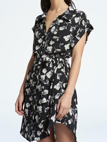 Shirt Dress with Waist-Tie