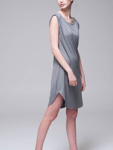 Twisted Armhole Shift Dress