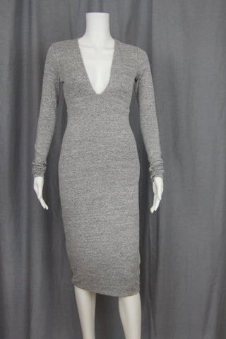 MIDI LENGTH BODYCON KNIT DRESS