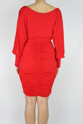 RUSCHED BODYCON DRESS