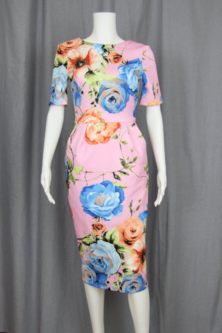 OVERSIZED FLORAL MIDI-DRESS (TALL)