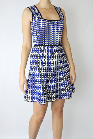 GEOMETRIC JACQUARD DRESS