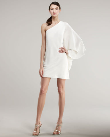 ONE SLEEVE CAFTAN COCKTAIL DRESS