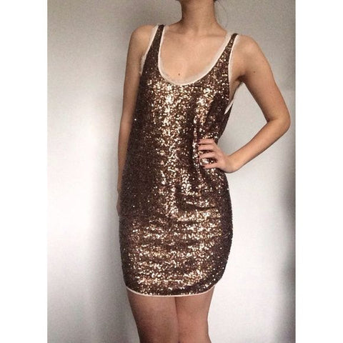 BARBIZON SEQUIN MINIDRESS