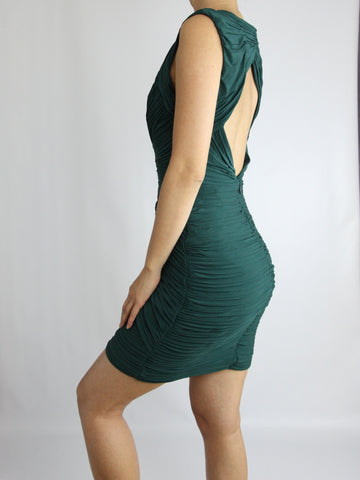 EDESA SHIRRED JERSEY BODYCON DRESS